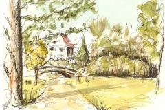 Alsterpark Brücke | 10x14 cm | 12 Euro
