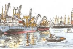 Hafenmotiv 1 | 16x24 cm | 20 Euro