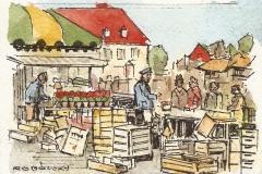 Wochenmarkt Ratsmühlendamm | 12x18 cm | 15 Euro