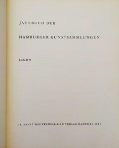 Jahrbuch der Hamburger Kunstsammlungen BILD 2
